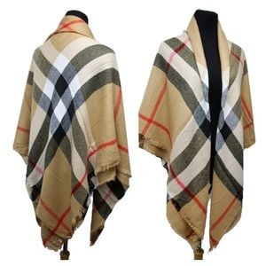 Plaid Large Oversized Blanket Scarf